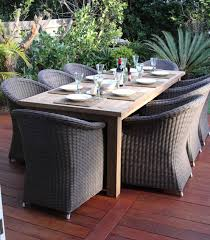 Wicker Patio Dining Table Furniture Lavish Dining Area In Backyard With Back Curvy Of