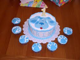 clorinda u0027s 1st birthday blues clues cake cakecentral com