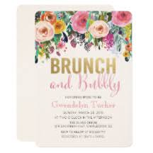 bridal brunch invite bridal brunch invitations announcements zazzle