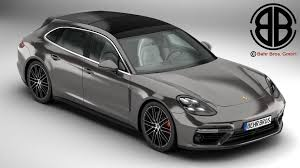 white porsche panamera porsche panamera sport turismo turbo 2018 3d model vehicles 3d