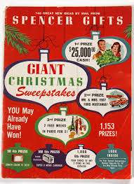 mail order christmas gifts vtg 1966 spencer gifts catalog mail order sweepstakes issue
