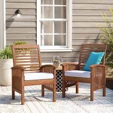 Patio Dining Chairs With Cushions Darby Home Co Widmer Patio Dining Chair With Cushion Reviews
