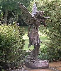 large garden ornaments sitting antique bronze sculpture