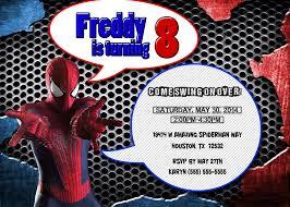 Free Spiderman Invitation Cards Spiderman Birthday Invitation Cards Printables U2014 Liviroom Decors