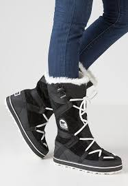 zalando womens boots uk sorel glacy explorer winter boots black zalando co uk