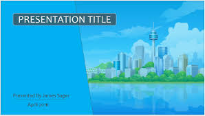 animated city powerpoint template 9266 free powerpoint