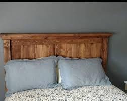 Solid Wood Headboard Queen by Rustic Headboard Etsy