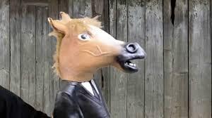 goat head halloween mask creepy horse man hand puppet halloween masks trendyhalloween