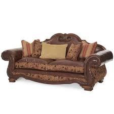 high back leather sofa michael amini toscano high back leather sofa wayfair