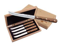 wooden handle kitchen knives miracl edge steak knife 5 serrated ss blade wood mpn 824