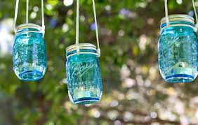 Mason Jar Candle Ideas Simple Diy Hanging Glass Blue Mason Jar Candle Holders Hanging