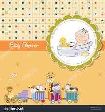 funny cartoon baby shower card stock vector 112721230 shutterstock