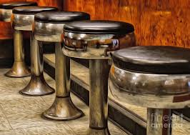 oil painted bar stools photograph by brian mollenkopf steampunk