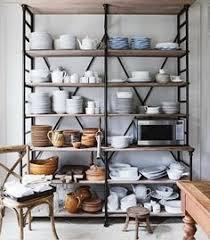 Kitchen Metal Shelves by Open Storage Ideas Industrial Brocante And Cabinets
