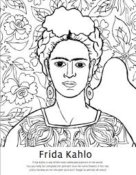 coloring pages diego rivera diego rivera coloring pages frida kahlo coloring pages studio t blog
