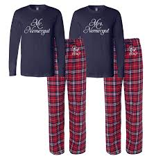 mr and mrs personalized pajamas custom mr and mrs and