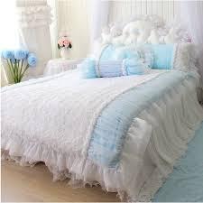 White Ruffle Duvet Aliexpress Com Buy 4pcs Set Quality Luxury Rose Bedding Set