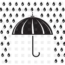 silhouette of umbrella in the rain vector clipart image 42680