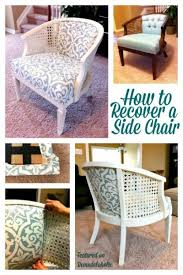 How To Reupholster A Side Chair Remodelaholic How To Reupholster A Tub Chair