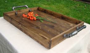 Wooden Trays For Ottomans Rustic Ottoman Tray Wooden Tray Serving Tray By Therocdesigns