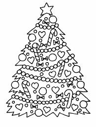 outline christmas tree kids coloring