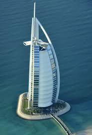 burj al arab hotel aerial view in dubai united arab emirates im