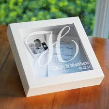 engraved wedding gifts buy wedding keepsake shadow box personalized wedding gifts online