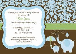 baby shower invitations enchanting baby boy elephant shower