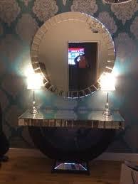 Quartz Console Table Quartz Black Mirrored Console Table Mirror Set Mirror Set
