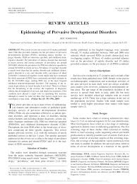 epidemiology of pervasive developmental disorders pdf download