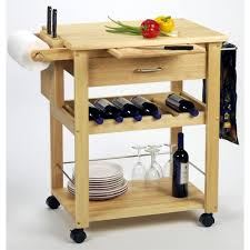multifunctional wine small kitchen island cart made by wood