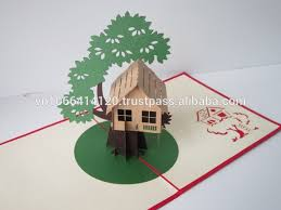 tree house card 3d greeting pop up card buy greeting card