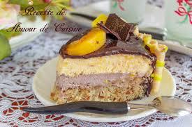 cuisine bavaroise bavarois peches chocolat et miroir au chocolat amour de cuisine