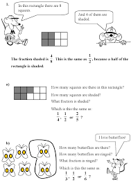 recognise and show using diagrams equivalent fractions with