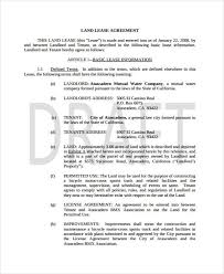 sample land lease agreement agricultural land lease agreement 7