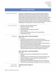 Resume Template For Hospitality Hotel Front Desk Resume Examples Sample Resume123