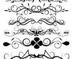 flourish svg swirl lines ornamental borders scalabe vector