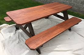 how to stain pine table how to stain a picnic table outdoor essentials