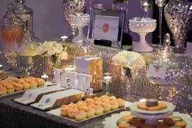 a sparkling wedding candy buffet for a glamorous party