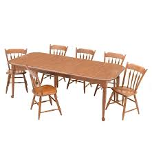 ethan allen maple dining table and six chairs ebth