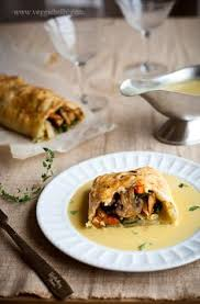Thanksgiving Vegetarian Main Dishes - thanksgiving wellington with fennel braised seitan thyme roasted