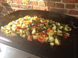 cuisine à la plancha gaz ratatouille à la plancha fourchette confidences
