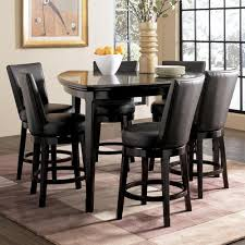 Bar Stool And Table Sets Millennium Emory 7 Piece Triangle Pub Table Set With 6 Upholstered