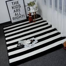 tappeto disegno mat moda disegno a strisce in bianco e nero tappeto tappeti per la