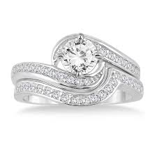 2 carat white gold engagement ring 1 1 2 carat bridal ring set in 14k white gold