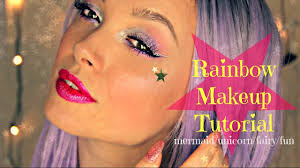 Unicorn Makeup Halloween by Rainbow Makeup Great For Mermaid Unicorn Fairy Halloween Or Just