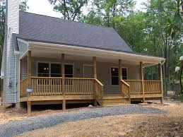 wrap around deck plans small one story country homes small country house with wrap