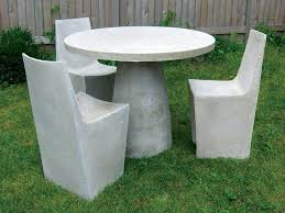 Round Concrete Patio Table Concrete Patio Furniture Is Able To Supply The Appearance Of