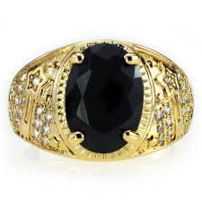aliexpress buy mens rings black precious stones real aliexpress buy brand new high quality cz mens rings gold