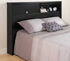 Bookcase Bed Queen Black Bookcase Headboards With Two Large Storage Compartments